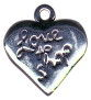 Shopping, I Love to Heart Sterling Silver Charm Pendant