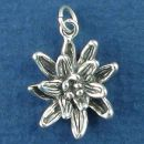 Flower 3D Sterling Silver Charm Pendant