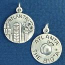 "Tour: Atlanta The Big ""A"" Double Sided Sterling Silver Charm Disk Pendant"