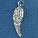 Angel Wing Charm Sterling Silver Pendant Left