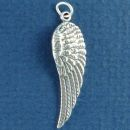 Angel Wing Charm Sterling Silver Pendant Right