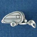 Travel Camper 3D Sterling Silver Charm Pendant