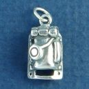 Hiking and Camping Pack Back 3D Sterling Silver Charm Pendant