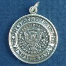 Military United States Presidential Seal Sterling Silver Charm Pendant