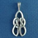 Celtic Love Knot Design Sterling Silver Pendant Small