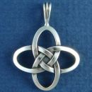 Celtic Knot Cross of Love Sterling Silver Pendant Medium