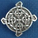 Celtic Knot Ulbster Cross Sterling Silver Pendant Medium