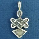 Celtic Knot of Warror Spirit Sterling Silver Pendant Medium