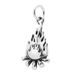Campfire Charm Sterling Silver