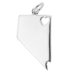 Nevada Sterling Silver Charm with Open Heart