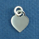 Heart Small Engravable Sterling Silver Charm Pendant