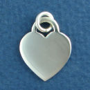 Heart Medium Engravable Sterling Silver Charm Pendant