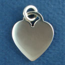 Heart Large Engravable Sterling Silver Charm Pendant