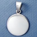 Round Medium 26 mm Engraved Sterling Silver Pendant Personalized Jewelry