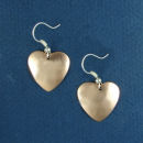 Heart Copper Small Hammered Engravable French Wire Earrings