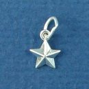 Star Sterling Silver Mini Charm Pendant