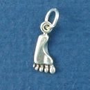 Footprint Assorted Left and Right Sterling Silver Mini Charm Pendant