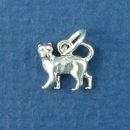 Cat Small Sterling Silver Charm Pendant