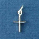 Cross Plain Sterling Silver Mini Charm Pendant