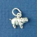 Pig Sterling Silver Mini Charm Pendant
