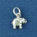 Elephant Tiny Sterling Silver Charm Pendant