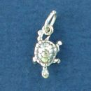 Turtle Charm Sterling Silver Small Charm Pendant