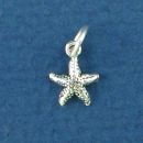 Starfish 3D Sterling Silver Mini Charm Pendant