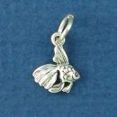 Angelfish Tiny Sterling Silver Charm Pendant