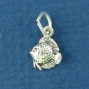Fish Tiny Sterling Silver Charm Pendant