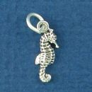 Sea Horse Tiny Sterling Silver Charm Pendant