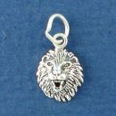 Lion Head Sterling Silver Tiny Charm Pendant