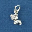 Puppy Dog Sterling Silver Mini Charm Pendant