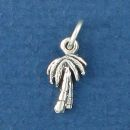 Palm Tree Tiny Sterling Silver Charm Pendant