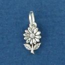 Daisy Flower Sterling Silver Mini Charm Pendant