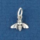 Bee Charm Sterling Silver Mini Pendant