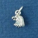 Eagle Head Bird Sterling Silver Charm Pendant