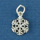 Snowflake Small Sterling Silver Charm Pendant