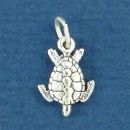 Sea Turtle Charm 3D Sterling Silver Small Charm Pendant