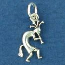 Kokopelli Indian Dancer Small Sterling Silver Indian Charm Pendant
