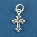 Cross Small Sterling Silver Charm Pendant