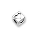 Sterling Silver Alphabet Beads Heart 4.5mm Letter Beads