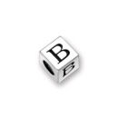 Sterling Silver Alphabet Beads B 4.5mm Letter Beads