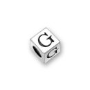Sterling Silver Alphabet Beads G 4.5mm Letter Beads