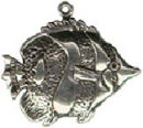 Fish Sterling Silver Charm Pendant