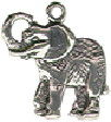 Elephant Small Sterling Silver Charm Pendant