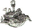Religious Christian Noah's Ark with Animals Sterling Silver Charm Pendant Small