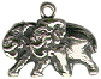 Noah's Ark Pair of Elephants Male and Female Sterling Silver Charm Pendant