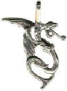 Serpent Chinese Dragon Charm in Sterling Silver