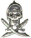 Skull And Swords Pirate Nautical Sterling Silver Charm Pendant