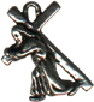 Religious Christian Jesus Carrying Cross 3D Sterling Silver Charm Pendant